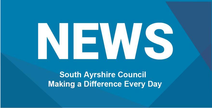 Blue News logo for South Ayrshire Council